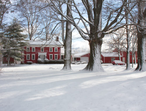 First snowfall - Little Red Farmstead