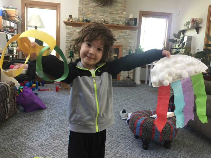 Myles with his camp crafts | Little Red Farmstead