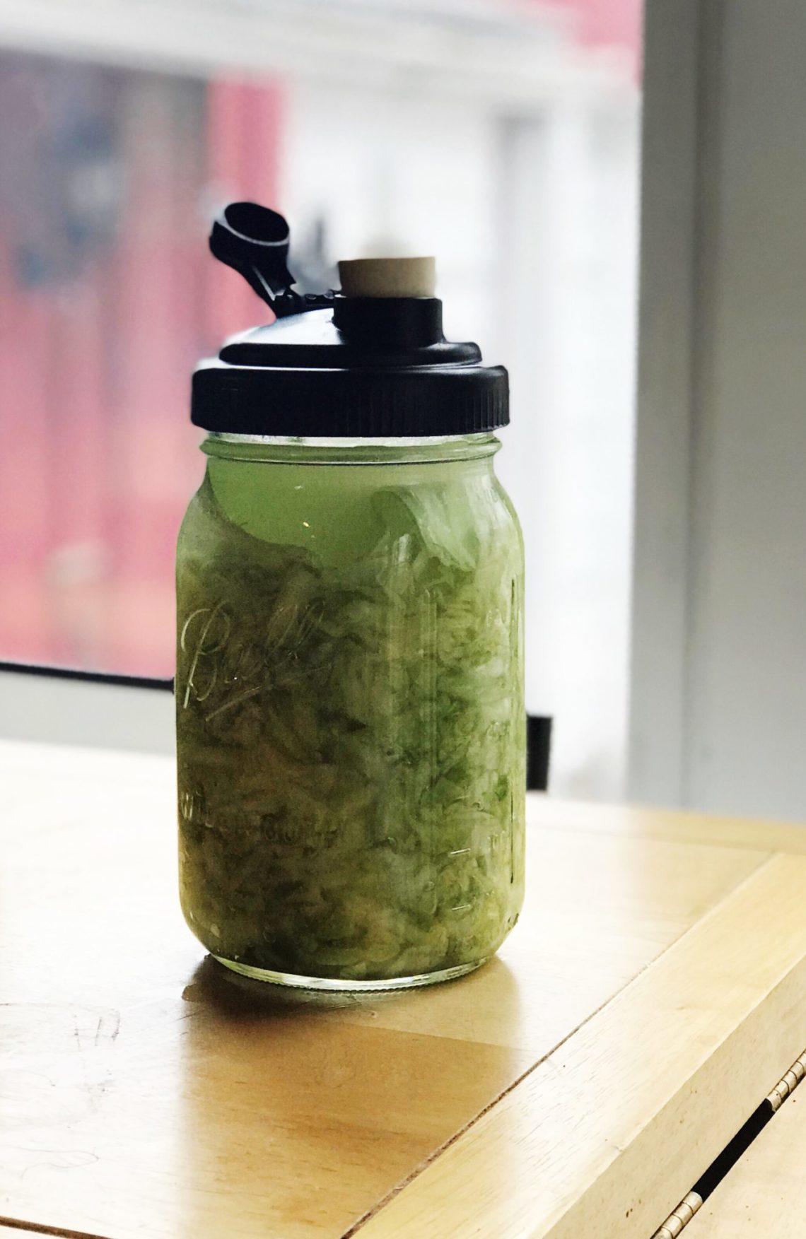 Sauerkraut in jar