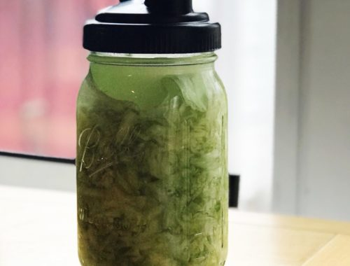 Sauerkraut in jar