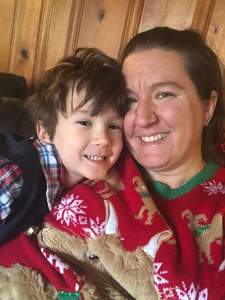 Myles & me, Christmas 2018